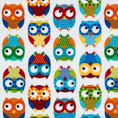 Flannel owls on white Projects For Kids, Sewing Projects, Fabric Board, Baby Fabric, Cool Fabric, Accent Decor, Little Ones, Fabric Design, Print Patterns