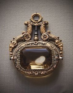 Coloured-gold and citrine, watch-key, French, about 1820-30 .British Museum