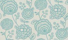 Beatrice+(110142)+-+Harlequin+Wallpapers+-+A+stylized+floral+design+with+large+flower+heads+-+showing+in+turquoise+on+off+white.+other+colour+ways+available.+Please+request+a+sample+for+true+match.+Paste-the-wall+product.
