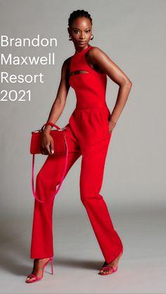 Red Fashion, Fashion 2020, Look Fashion, Runway Fashion, Spring Fashion, High Fashion, Fashion Show, Fashion Outfits, Fashion Design