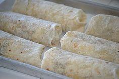 Breakfast burritos for freezing.