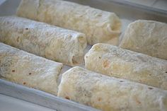 Breakfast burritos...can be made ahead & frozen.