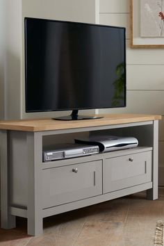 Buy Malvern Corner TV Stand from the Next UK online shop Diy Tv Stand, Tv Stand Grey, Entertainment Center Redo, Tv Decor, Room Decor, My Living Room, Tv Stand Living Room, Furniture Collection, Built Ins