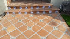 Saltillo Tile Entry with various Spanish Tile Insets   Avente Tile