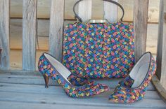 1950's/60's Matching purse and shoes. How cool is this!!!? by RebelHippieChick on Etsy https://www.etsy.com/listing/256177952/1950s60s-matching-purse-and-shoes-how