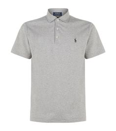 Polo Ralph Lauren Pima Cotton Polo Shirt available to buy at Harrods.Shop clothing online and earn Rewards points. Polo Shirts, Harrods, Polo Ralph Lauren, Training, Clothing, Model, Mens Tops, How To Wear, Cotton