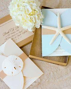 Seashell invitations!