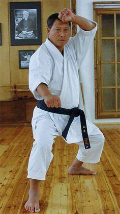 Hiroshi Shirai 10th Dan demonstrating kata Sochin, one of his favourite Shotokan kata.