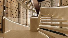 dutch design firm SEYD presents bi-directional symmetry yacht concept Yacht Interior, Interior Lighting, Best Interior, Interior Ideas, Staircase Handrail, Staircase Design, Stairs, Staircases, Yacht Design