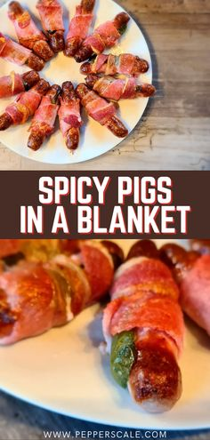 A spicy twist on the original, these pigs in a blanket make a great appetizer for any occasion! Jalapeño pigs in blankets is a great recipe for when you need extended party prep, too. You can make them ahead of time. #baconwrapped #jalapeno #pigsinablanket #spicyrecipes #gamedayappetizers #appetizers #biggamerecipes Easy Appetizer Recipes, Great Appetizers, Easy Snacks, Easy Dinner Recipes, Jalapeno Recipes, Spicy Recipes, Chicken Wings Spicy, Game Day Food, Bacon Wrapped