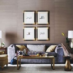 Combining shades of purple and brown make a very classy look. (via Baker Furniture)