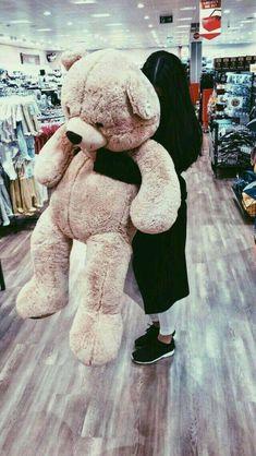 My Positive Style Huge Teddy Bears, Giant Teddy Bear, Tedy Bear, Teddy Girl, Teddy Bear Gifts, Teddy Bear Pictures, Girl Hiding Face, Cute Stuffed Animals, Bear Wallpaper