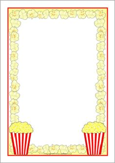Popcorn page borders - SparkleBox - Makes a great invitation to come watch movies together. Popcorn Theme Classroom, Hollywood Theme Classroom, Classroom Themes, Movie Classroom, Red Classroom, Popcorn Science Fair Project, Science Fair Projects, Science Experiments, School Projects