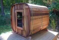 See the site above click the link for more choices - spa sauna Outdoor Sauna, Outdoor Baths, Outdoor Decor, Homemade Sauna, Portable Steam Sauna, Sauna Shower, Barrel Sauna, Sauna Heater, Tiny House Furniture