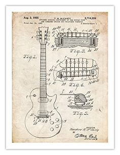 GIBSON LES PAUL GUITAR POSTER 1955 US Patent Art Poster Print Vintage Reproduction Gift, 18 by 24 inches Steves Poster Store http://www.amazon.com/dp/B00IA3BP94/ref=cm_sw_r_pi_dp_cacqwb11E9195