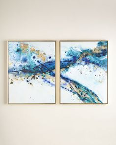 "Two ""Azure Canyon"" Prints at Neiman Marcus."