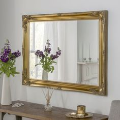 Gold Swept Frame Wall Mirror 168 x 107cm