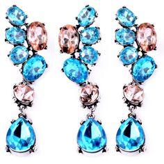 Elegant Blue!! Just súper gorgeous!!! Bundle and Save Amiga! 3 FOR 10$:D  Comment on the ones you would like to bundle!!ill make a listing for you!! Jewelry Earrings