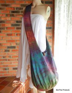 Tie Dye Bag Purse Hobo Hippie Sling Crossbody Messenger Classic OAK XXL Plus Size B8. $15.99, via Etsy.