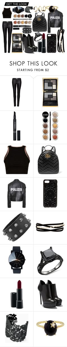 """Astrid Scar"" by turquoisesnow123 on Polyvore featuring Zoe Karssen, Yves Saint Laurent, Givenchy, Giorgio Armani, Gucci, Vetements, Felony Case, Kenneth Jay Lane, MAC Cosmetics and Stella & Dot"