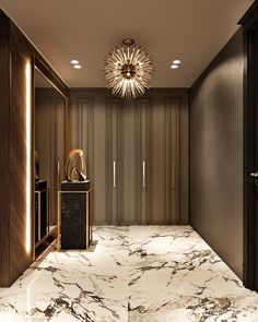 Luxury Private residence in Palestine Italian Interior Design, Modern Home Interior Design, Foyer Design, Entrance Design, Home Building Design, House Design, Bungalow Interiors, Living Room Wall Units, Luxury Homes Dream Houses