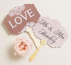 Lovely wedding props for any ceremony photobooth! #rentmyphotobooth Photo via #HipHipHooray