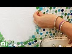 (12) How to Make a Bathroom Accent Wall with Dollar Store Gems - YouTube