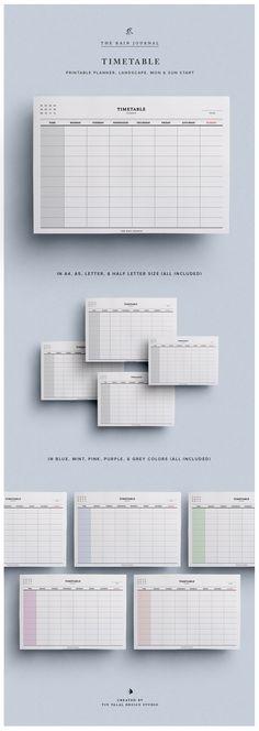Timetable / Schedule - Student Planner / Work Planner