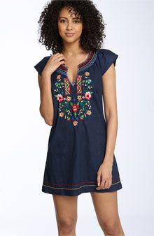 Lucky Brand 'Becky' Embroidered Tunic Dress: lucky dress