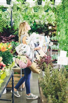 Favorite Weekend Morning Activity (picking up fresh blooms at the flower mart)