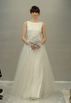 A-line Wedding Dress | Theia White Collection Fall 2015 | Blog.theknot.com
