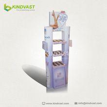 China manufacturer durable creative floor standing cardboard display supermarket stand