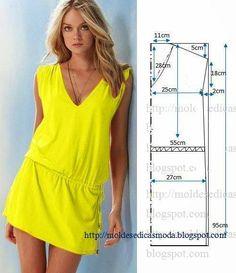 Simple DIY Summer Dress – Free Sewing Pattern - 10 Fashionable DIY Dress Sewing Patterns Perfect for Every Body Shape - Salvabrani Sewing Patterns Free, Clothing Patterns, Dress Patterns, Diy Clothing, Sewing Clothes, Dress Sewing, Diy Fashion, Ideias Fashion, Fashion Sewing