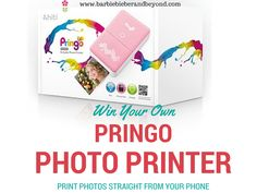 a Pringo mini photo printer with Print photos direct from your iphone, android or other iOS device Iphone Printer, Photo Direct, Mini Photo, Special Girl, Tween Girls, Giveaways, Are You The One, Ios, Barbie