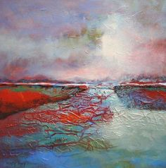 Abstract landscape by Dutch artist Marly Freij