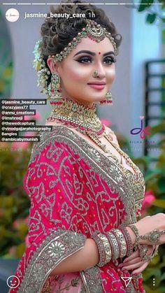 Indian Bridal Photos, Bridal Hairstyle Indian Wedding, Bridal Hair Buns, Indian Wedding Bride, Indian Bridal Hairstyles, Indian Bridal Makeup, Indian Bridal Fashion, Bride Hairstyles, Pageant Hairstyles