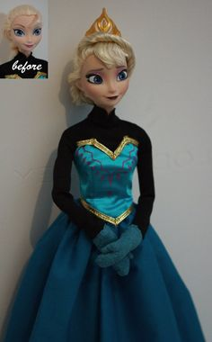 Elsa of Arendelle OOAK doll by lulemee
