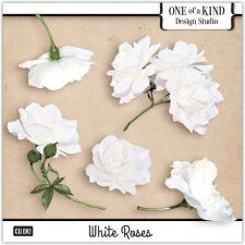 White Roses Commercial Use mix for Digital Scrapbooking, #CUDigitals