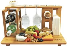 NEW All-In-One Top Cheese Board Serving Cutting Platter Tray Set Wood Bamboo in Home & Garden, Kitchen, Dining, Bar, Cutting Boards Moso Bamboo, Wine Bucket, Built In Bar, Diy Cutting Board, Diy Bar, Wine Rack, Wood Crafts, Funny Nursing, Nursing Quotes