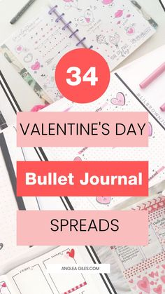 34 Best Valentines Day Bullet Journal Spreads in 2020 Are you looking for some gorgeous romantic Val How To Bullet Journal, February Bullet Journal, Bullet Journal Monthly Spread, Bullet Journal Quotes, Bullet Journal Notebook, Bullet Journal Layout, Bullet Journal Inspiration, Bullet Journals, Journal Ideas