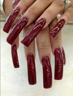24 Ideas Nails Long Square Acrylics Products For 2019 Nail Ideas nail ideas long square Sexy Nails, Hot Nails, Trendy Nails, Long Square Acrylic Nails, Long Square Nails, Long Red Nails, Long Fingernails, Perfect Nails, Gorgeous Nails