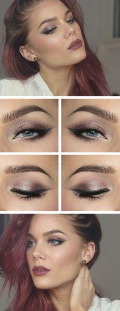 Event makeup...fall colors..plum, mauve, berry toned