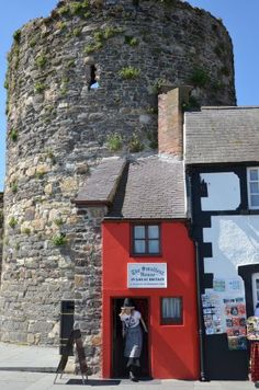 the smallest house in Britain in Conwy, Wales