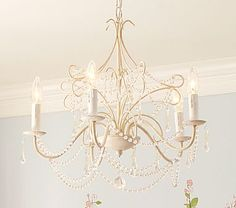 Obsessed. Want this in my future walk in closet (or bathroom or kid's room) :) Loving chandeliers in unexpected places!