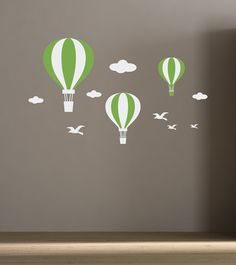 Wall Decals Hot Air Balloons for kids room, baby room decor stickers, Nursery Decals