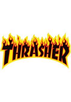 Thrasher Flame Sticker Medium black Titus Onlineshop