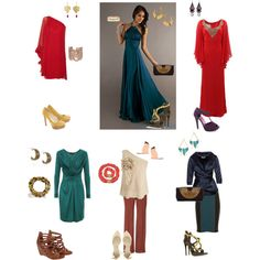 A fashion look from May 2013 featuring long prom dresses, red gown and knee-length dresses. Browse and shop related looks.