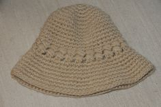 tan knitted hat