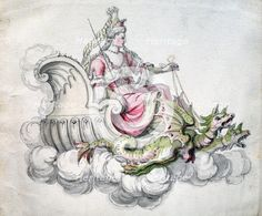 'Chair of Médée', c1675. Artist: Jean Berain