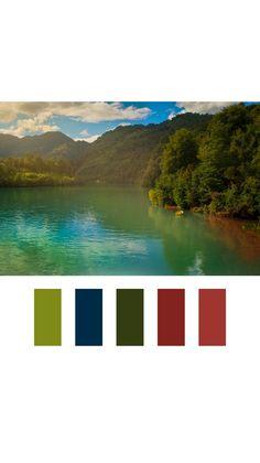Landscape photography color palette